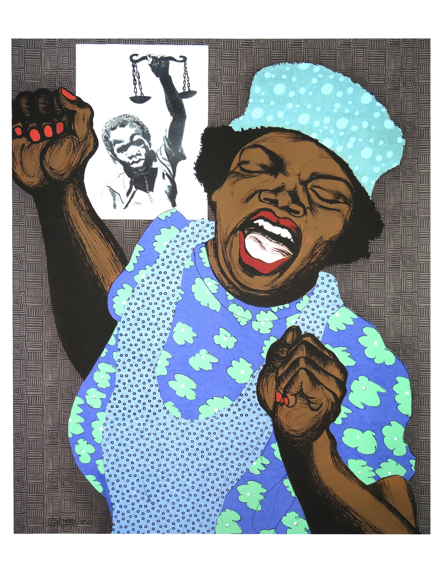 For Bobby Seale Emory Douglas 2000-tal AFRICANAH