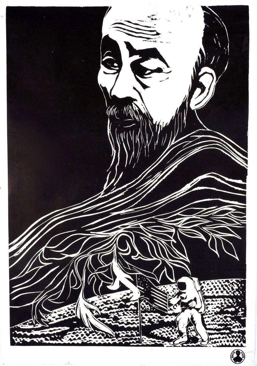Ho Chi Min Dea Trier Mörch 1975 Louisana utställningar