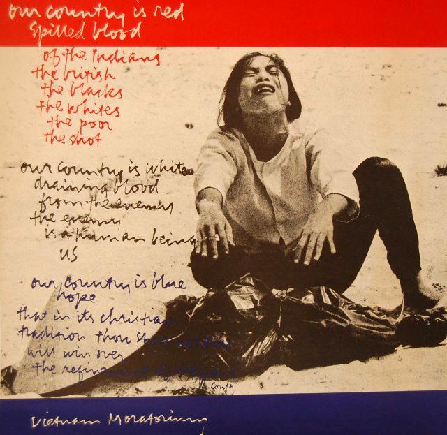 Our Country is Red Spilled Blood Vietnam Moratorium Corita Kent 1969-1972 Corita Art Center