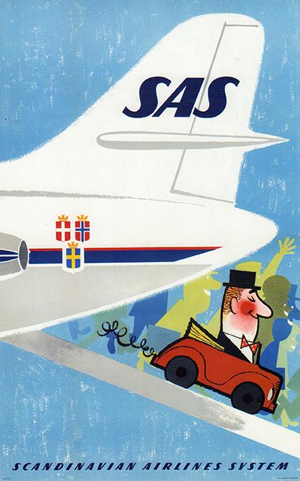 SAS - Okänd konstnär 1960 Dag Suul