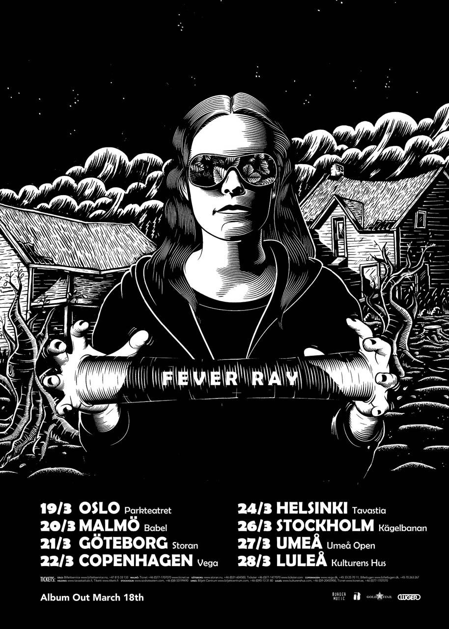 Fever Ray, musikaffisch 2009 - Affisch av Martin Ander