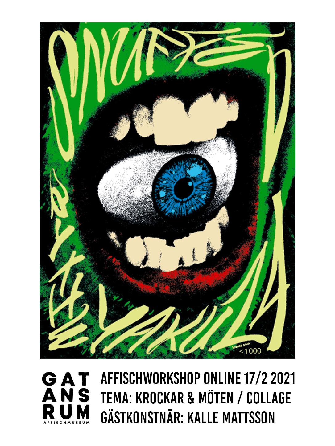 Affischworkshop online 17/2 med Gatans Rum & Kalle Mattsson