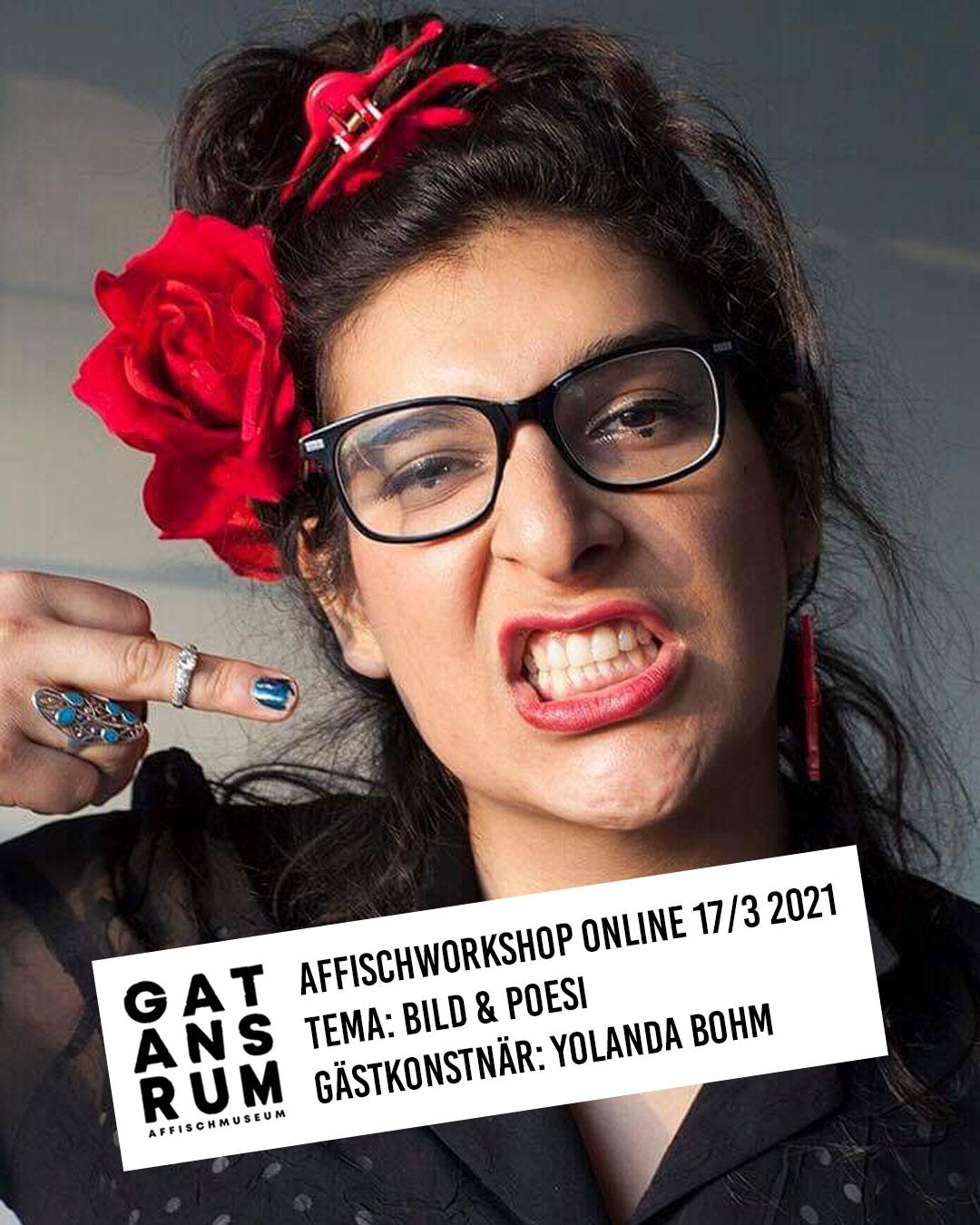Affischworkshop online 17/3 med Gatans Rum & Yolanda Bohm